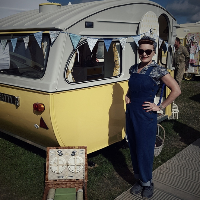 The Goodwood Revival and my Simplicity 8447 1940s Vintage Dungarees